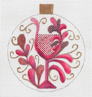 Paisley Red Wine Ornament by Sharon G