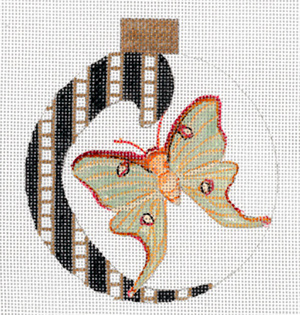 Paisley Luna Moth Ornament by Sharon G