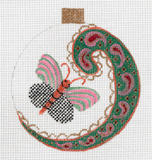 Paisley Butterfly I Ornament by Sharon G