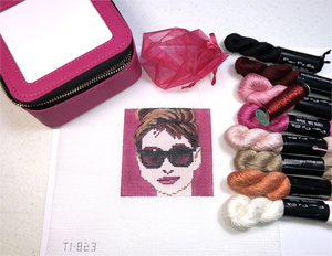 Jewelry Case Kit - Hand Painted Audrey Hepburn Canvas