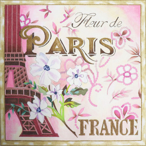 Fleur de Paris- France Hand Painted Canvas by Janice Gaynor