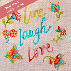Live, Laugh, Love Hand Painted Canvas by Janice Gaynor