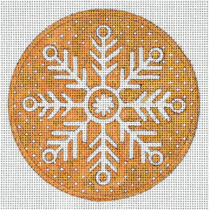 Snowflake 1 Hand Painted Christmas Ornament Canvas by Janice Gaynor