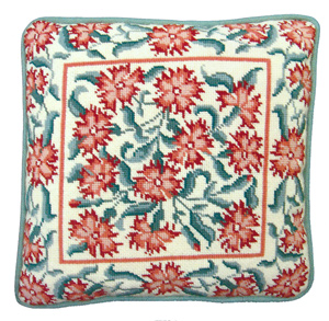 Julia Hickman's Stitchery Needlepoint - Arts & Crafts Carnations Cushion Kit