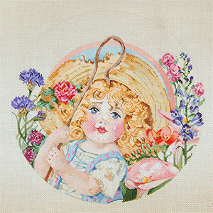 Nursery Rhymes - Little Bo Peep - Hand Painted Needlepoint Canvas by Joy Juarez