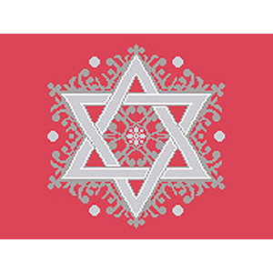 Fancy Star Needlepoint Tallis Canvas