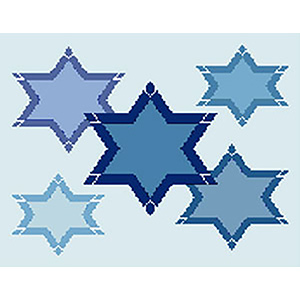 Stars in Stars Needlepoint Tallis Canvas