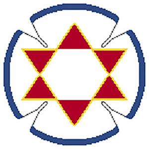 Star Diamond Needlepoint Yarmulke