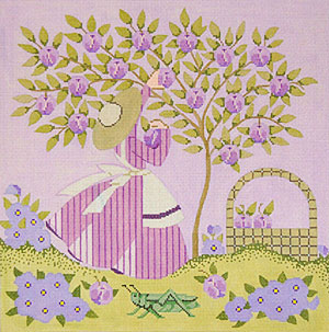 Mrs. Greenbean - Hand Painted Needlepoint Canvas by Janet Watson from the Ziba Collection