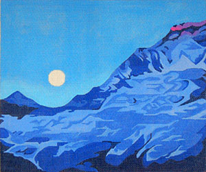 Moonrise - Hand Painted Needlepoint Canvas by Janet Watson from the Ziba Collection
