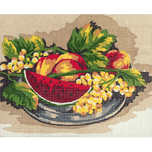 Summer Fruit Plate- Collection d'Art Needlepoint Canvas