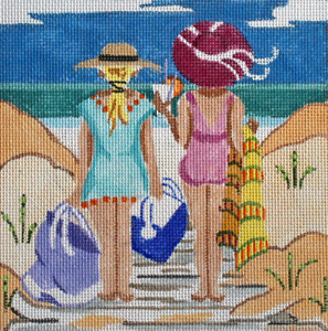 Where's Our Spot Hand Painted Needlepoint Canvas by Kamala