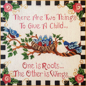 Two Things to Give a Child Hand-painted Needlepoint Canvas