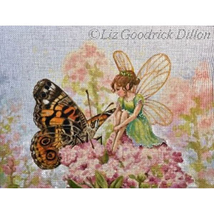 Liz Goodrick-Dillon Hand Painted Needlepoint - Butterfly & Fairy
