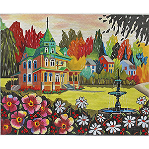 Chateau Richard Hand-painted Needlepoint Canvas