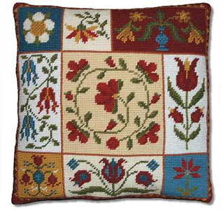 Shaker Patchwork Flowers Cushion Kit