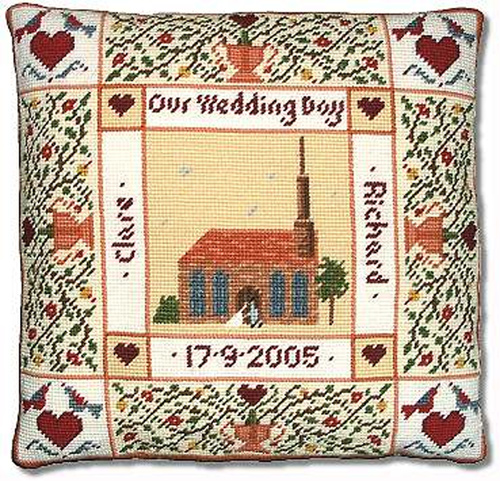 Shaker Wedding Sampler Cushion Kit