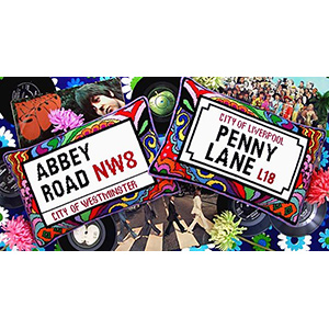 Beatles Street Signs Cushion Kit