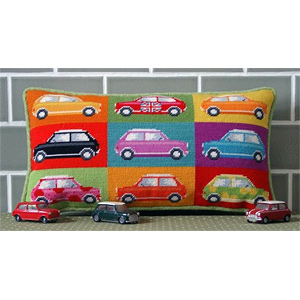 Pop Art Mini Cars Cushion Kit