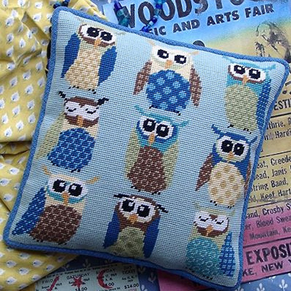 Retro Owls Cushion Kit