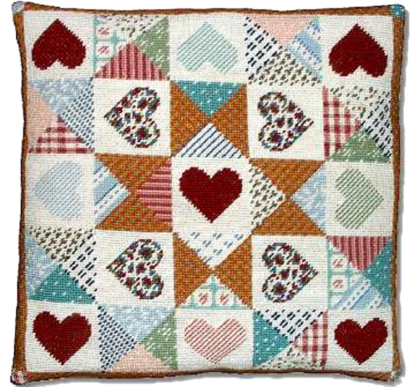 Patchwork Heart Quilt Cusion Kit