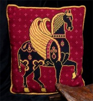 Byzantine Winged Horse (Pegasus) Tapestry Kit from Millennia Designs