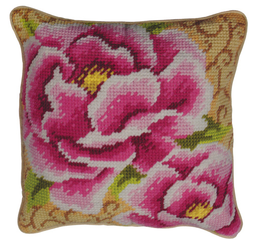 Peony - Anchor Needlepoint QuickPoint Cushion Kit