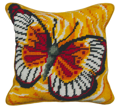 Butterfly - Anchor Needlepoint QuickPoint Cushion Kit