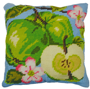 Apples - Anchor Needlepoint QuickPoint Cushion Kit