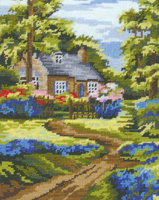 Spring Scene - Anchor Needlepoint Tapestry (or Cushion) Kit