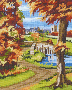 Autumn Scene - Anchor Needlepoint Tapestry (or Cushion) Kit