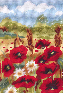 Poppy Field - Anchor Needlepoint Kit