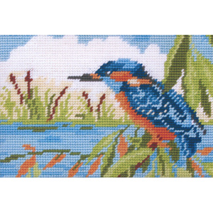 No Fishing (Kingfisher) - Anchor Needlepoint Kit