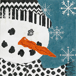Let It Snow - Hand Painted Needlepoint Canvas by Machelle Somerville