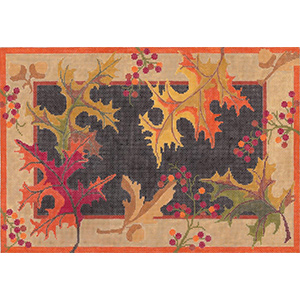Autumn Splendor - Hand Painted Needlepoint Canvas by Machelle Somerville