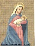 Mary & Baby Hand-Painted Needlepoint Canvas