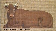 Oxen Hand-Painted Needlepoint Canvas