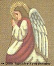 Angel Hand-Painted Needlepoint Canvas