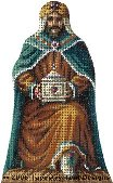 Kneeling King Hand-Painted Needlepoint Canvas