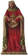 Red King Hand-Painted Needlepoint Canvas