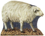 Walking Sheep Hand-Painted Needlepoint Canvas