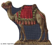 Standing Camel Hand-Painted Needlepoint Canvas