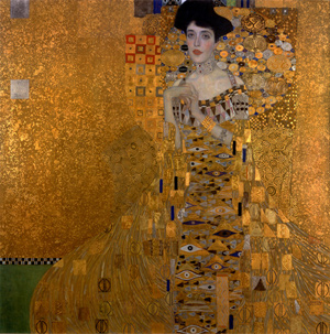 "Adele by Klimt 20x20"" with Silk & Metallics Kit"