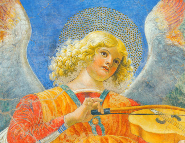 Angel Playing the Viola da Braccio, Melozzo da Forli