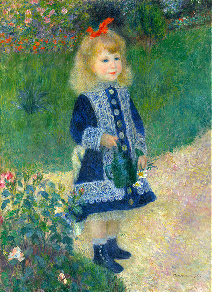 Girl With the Watering Can,  Pierre-Auguste Renoir