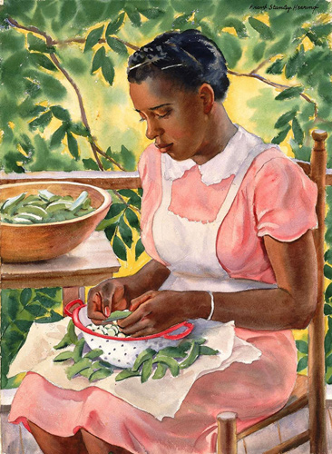Laura Shelling Butter Beans by Frank Stanley Herring