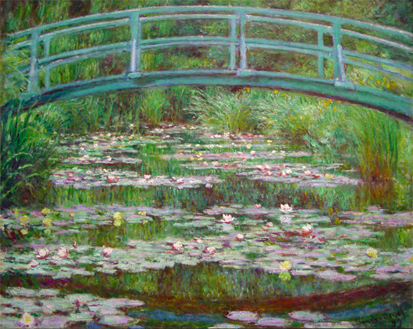 Japanese Footbridge, Claude Monet