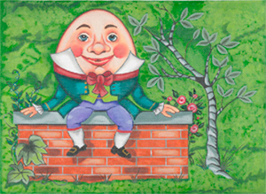Humpty Dumpty - Hand Painted Design from Trubey Designs