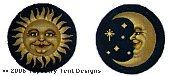 Sun & Moon Hand-Painted Needlepoint Canvas