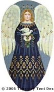 Angel-Blue Hand-Painted Needlepoint Canvas